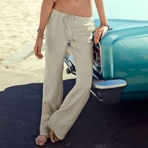 Victoria's Secret Linen Beach Pants